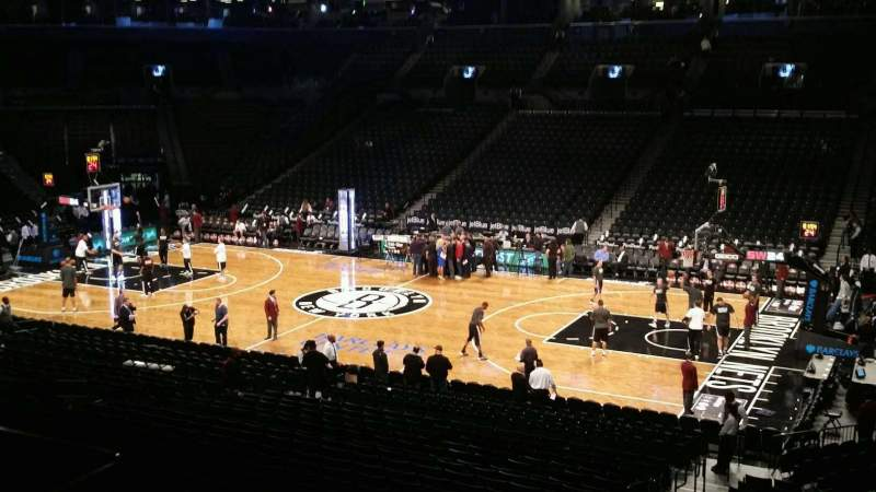 Seating view for Barclays Center Section 122 Row 4 Seat 2