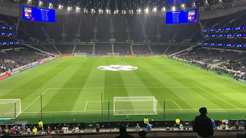 Seating view for Tottenham Hotspur Stadium Section 420 Row 8 Seat 380
