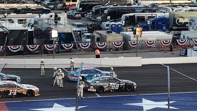 Seating view for Texas Motor Speedway Section PL422 Row 23 Seat 16