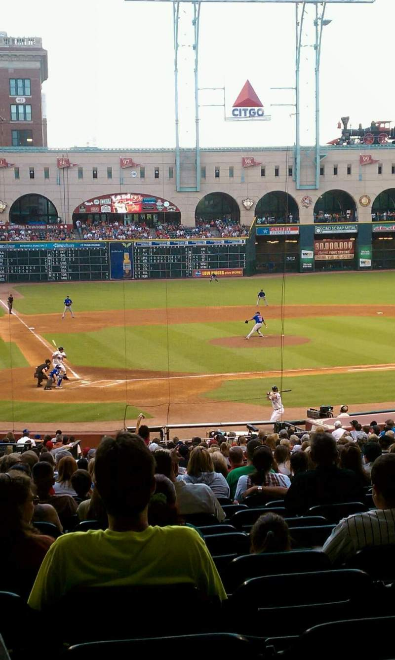 Seating view for Minute Maid Park Section 122 Row 23 Seat 5