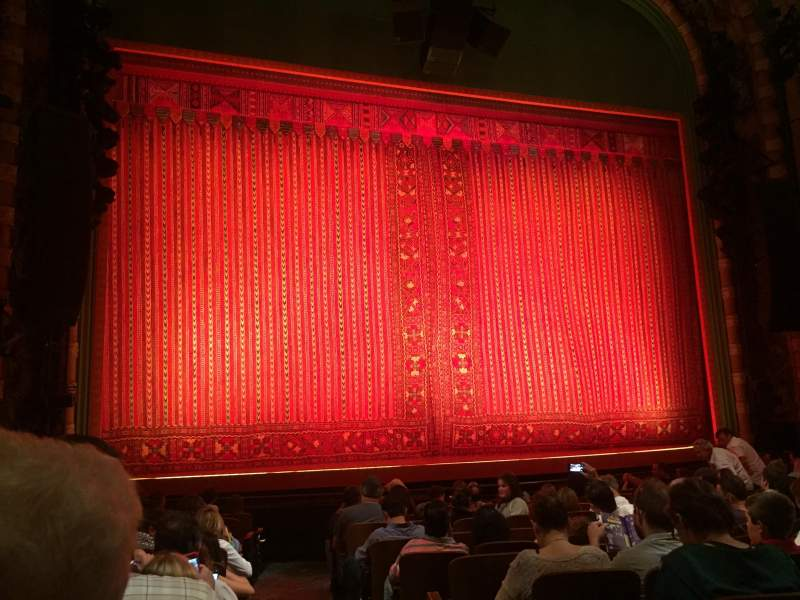 Seating view for New Amsterdam Theatre Section Orchestra L Row M Seat 1