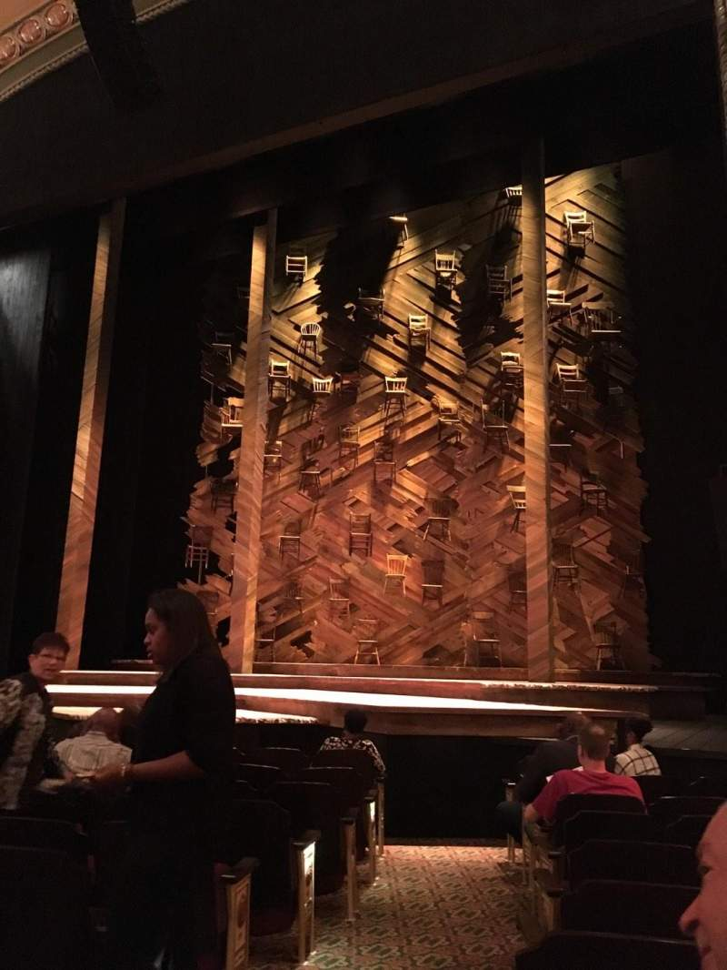 Seating view for Bernard B. Jacobs Theatre Section Orchestra R Row I Seat 4