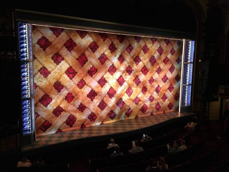Seating view for Brooks Atkinson Theatre Section Front Mezzanine L Row A Seat 11