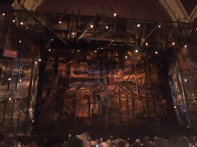 Seating view for Broadway Theatre - 53rd Street Section ORCH Row O Seat 113