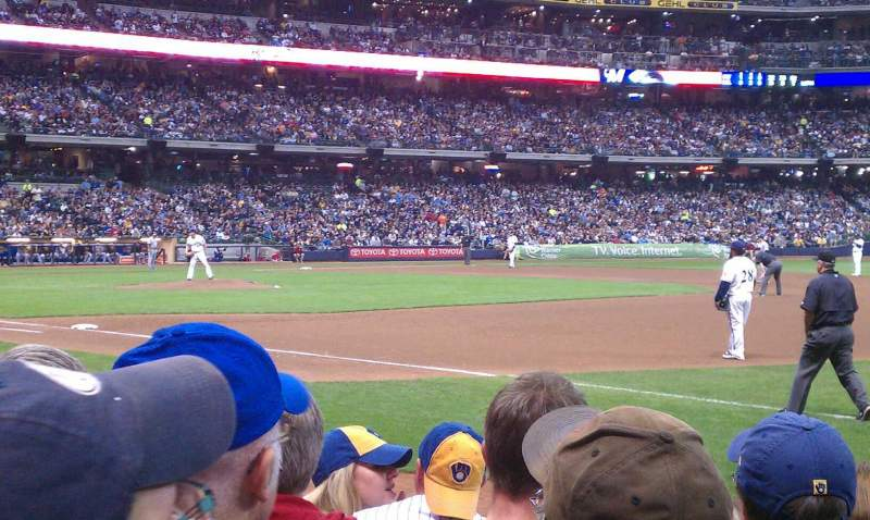 Seating view for Miller Park Section 110 Row 6 Seat 11