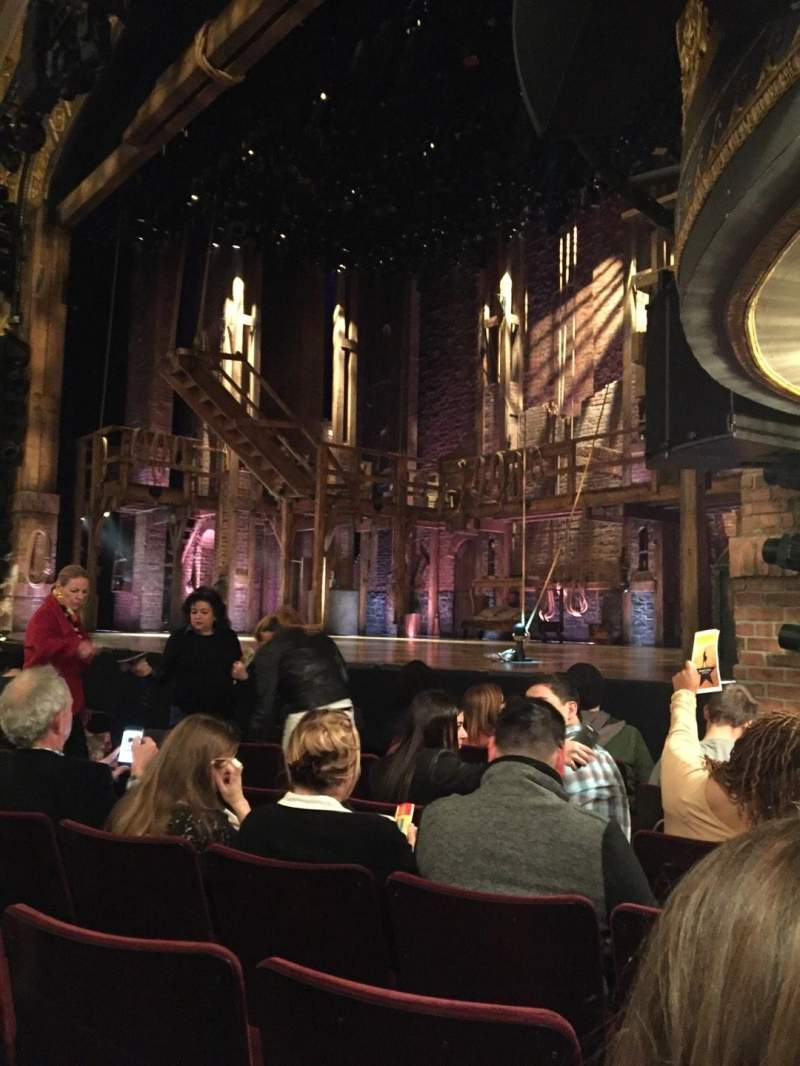 Seating view for Richard Rodgers Theatre Section Orchestra R Row F Seat 22