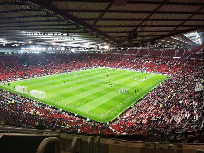 Seating view for Old Trafford Section NE3425 Row 22 Seat 114