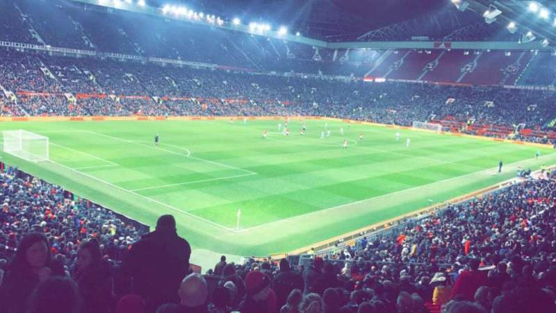 Seating view for Old Trafford Section W210 Row 22 Seat 48