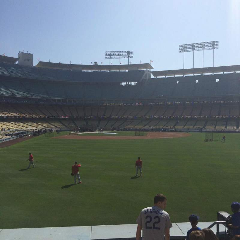 Seating view for Dodger Stadium Section 304PL Row F Seat 15-16