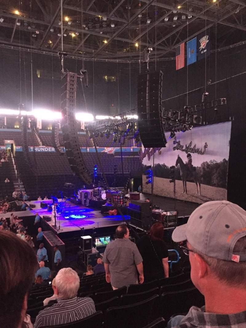 Seating view for Chesapeake Energy Arena Section 115 Row P Seat 9
