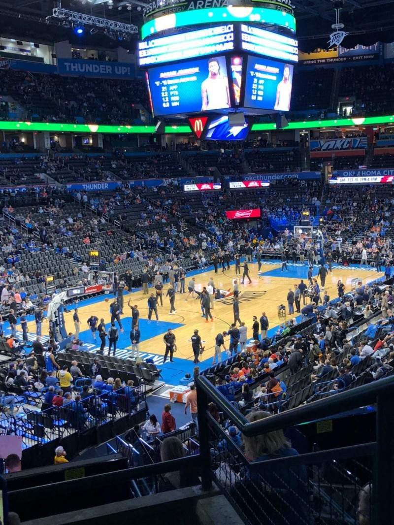 Seating view for Chesapeake Energy Arena Section 227 Row C Seat 10