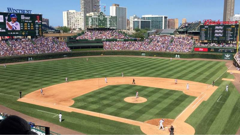 Seating view for Wrigley Field Section 315L Row 4 Seat 1