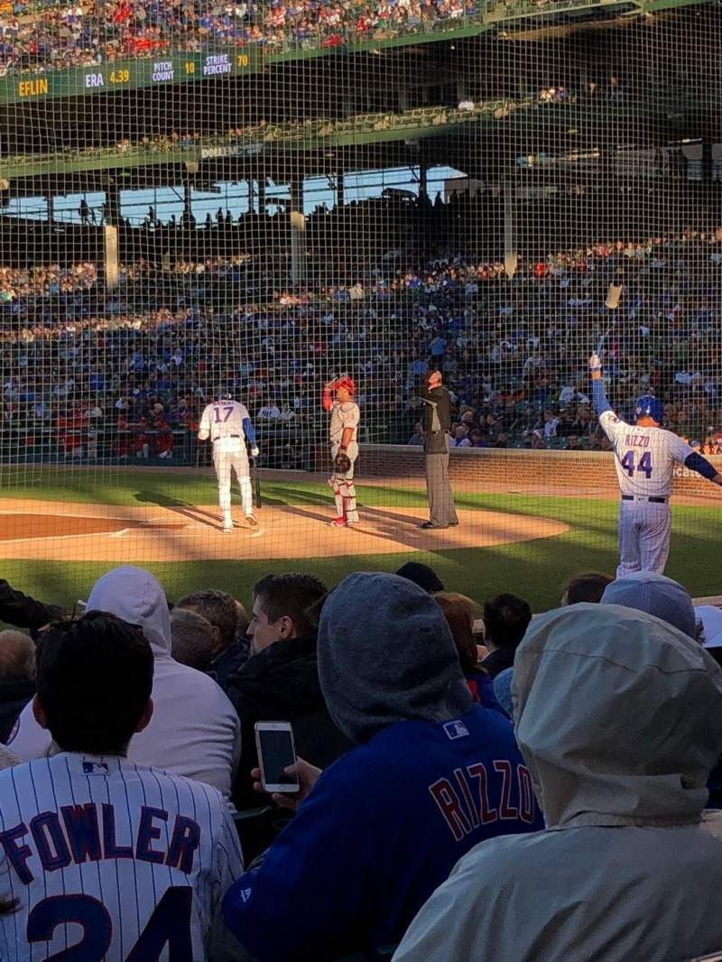 Seating view for Wrigley Field Section 13 Row 10 Seat 5