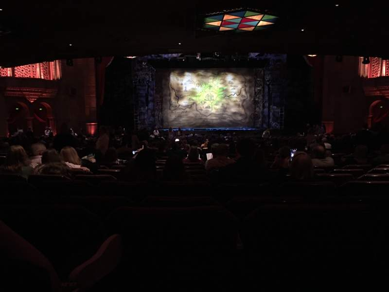 Seating view for Fox Theatre (Atlanta) Section Orchestra C Row LL Seat 110