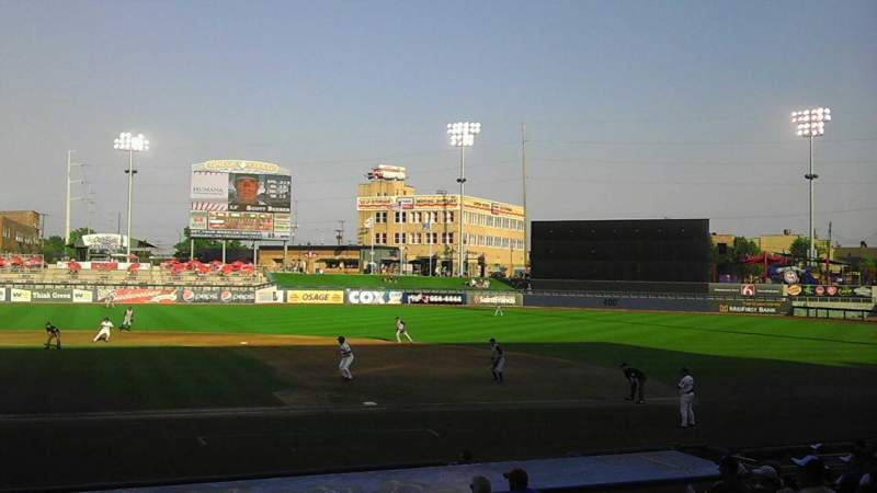 Seating view for ONEOK Field Section 101 Row M Seat 16