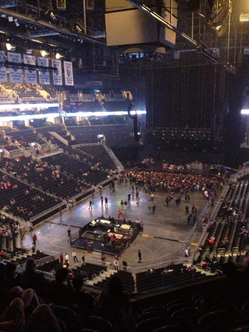Barclays Center, section: 214, row: 7, seat: 8