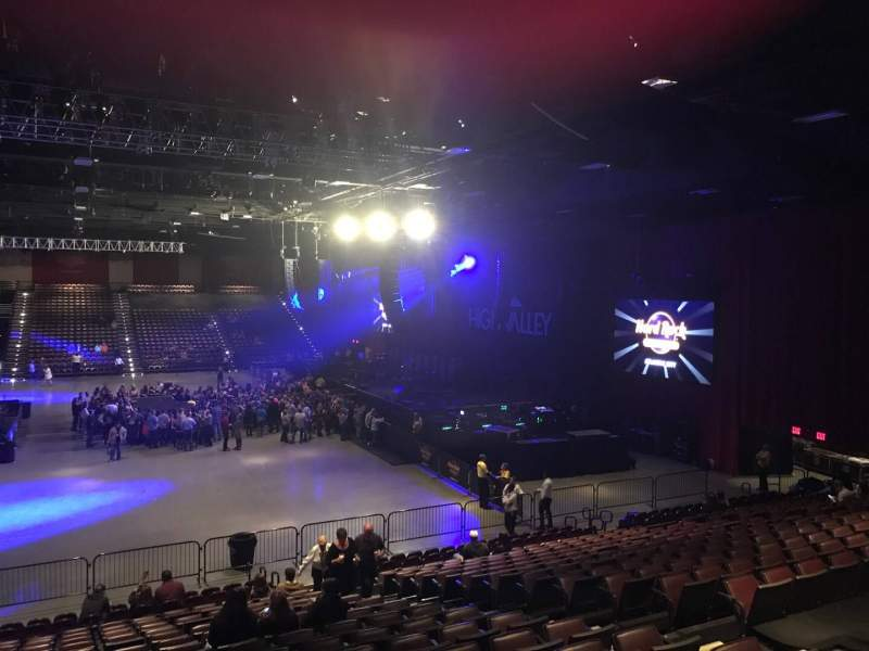 Seating view for Hard Rock Live at Etess Arena Section 203 Row T Seat 8