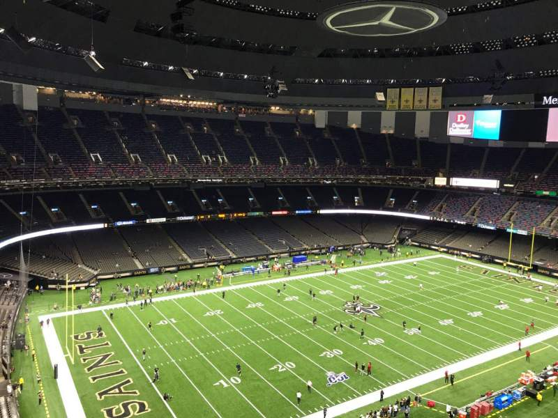 Seating view for Caesars Superdome Section 620 Row 15 Seat 6