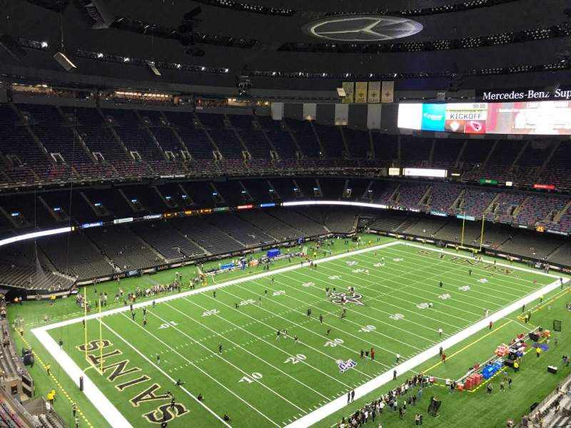 Seating view for Caesars Superdome Section 622 Row 22 Seat 10
