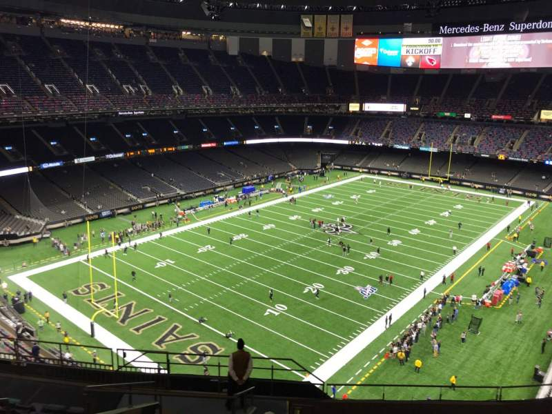 Seating view for Caesars Superdome Section 622 Row 12 Seat 14