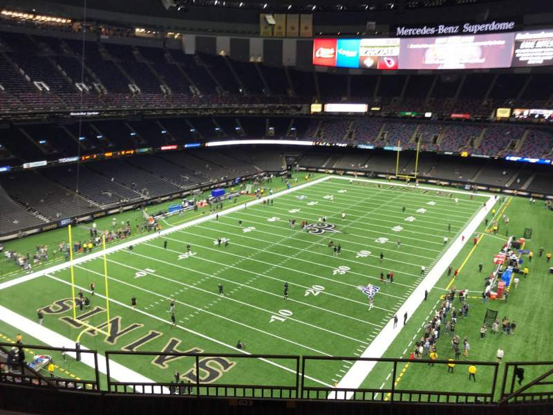 Seating view for Mercedes-Benz Superdome Section 623 Row 7 Seat 8