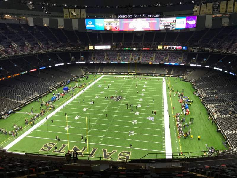 Seating view for Mercedes-Benz Superdome Section 625 Row 21 Seat 11