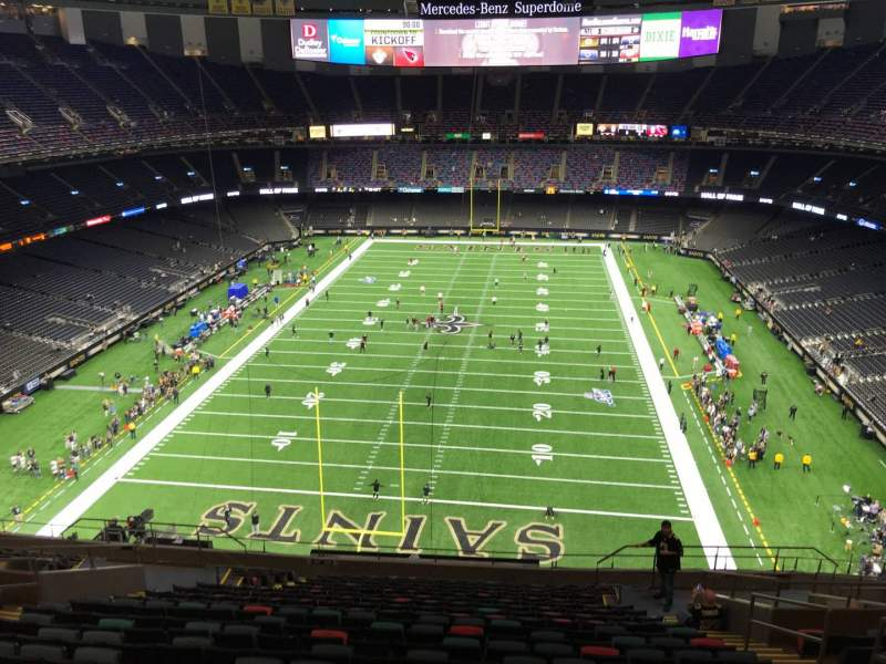 Seating view for Caesars Superdome Section 626 Row 17 Seat 7