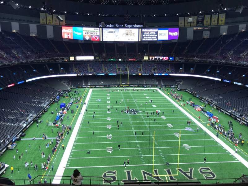 Seating view for Caesars Superdome Section 628 Row 14 Seat 16