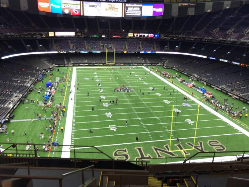 Seating view for Caesars Superdome Section 629 Row 9 Seat 13