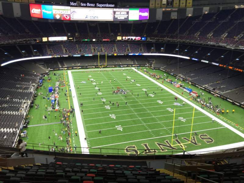 Seating view for Caesars Superdome Section 630 Row 19 Seat 7