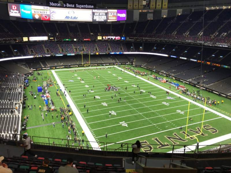 Seating view for Caesars Superdome Section 631 Row 14 Seat 7