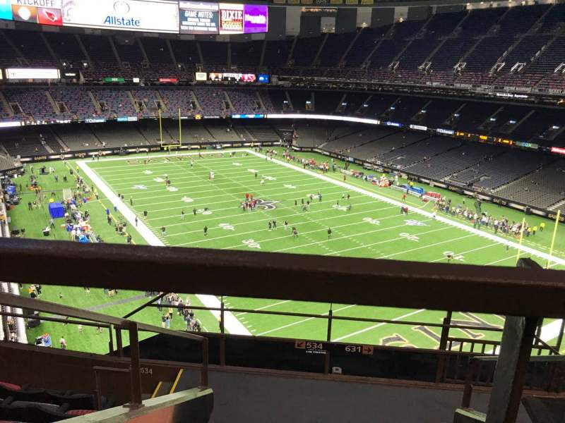 Seating view for Caesars Superdome Section 633 Row 6 Seat 3