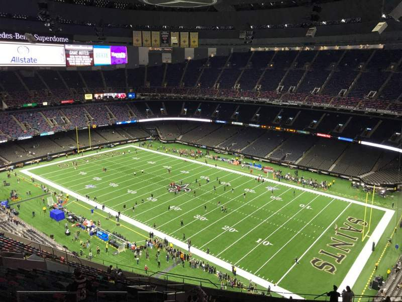 Seating view for Caesars Superdome Section 634 Row 28 Seat 17