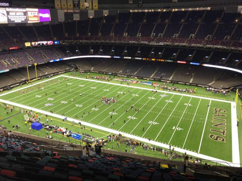 Seating view for Caesars Superdome Section 626 Row 26 Seat 10