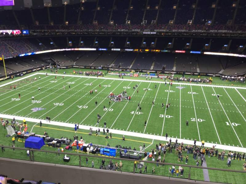 Seating view for Caesars Superdome Section 638 Row 6 Seat 5