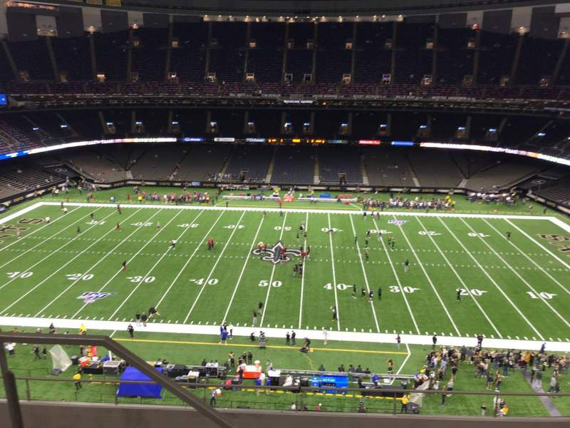 Seating view for Caesars Superdome Section 639 Row 8 Seat 21