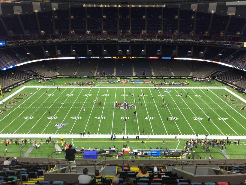 Seating view for Caesars Superdome Section 640 Row 20 Seat 10