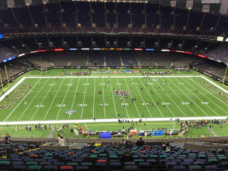 Seating view for Caesars Superdome Section 641 Row 26 Seat 13