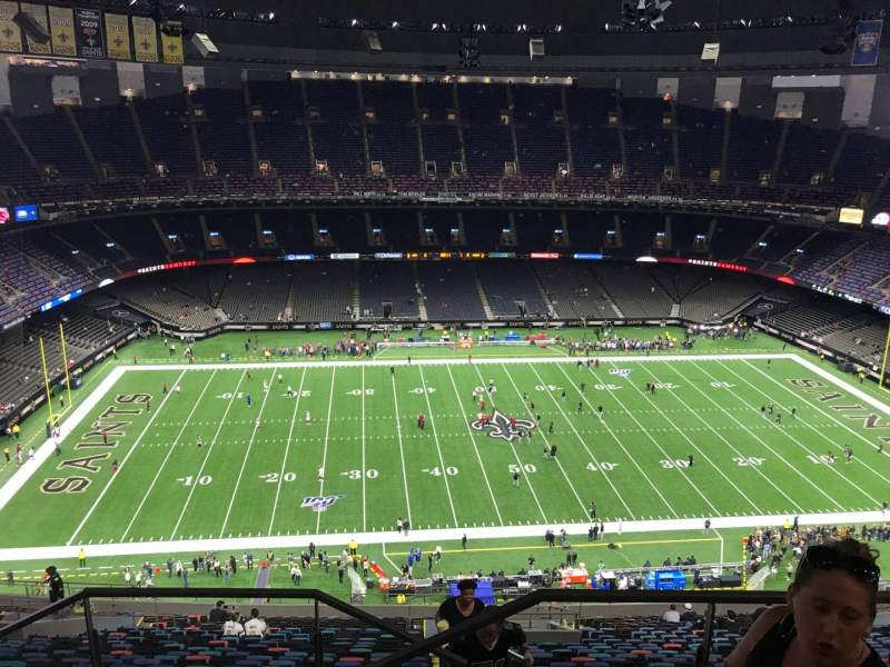 Seating view for Caesars Superdome Section 642 Row 29 Seat 1