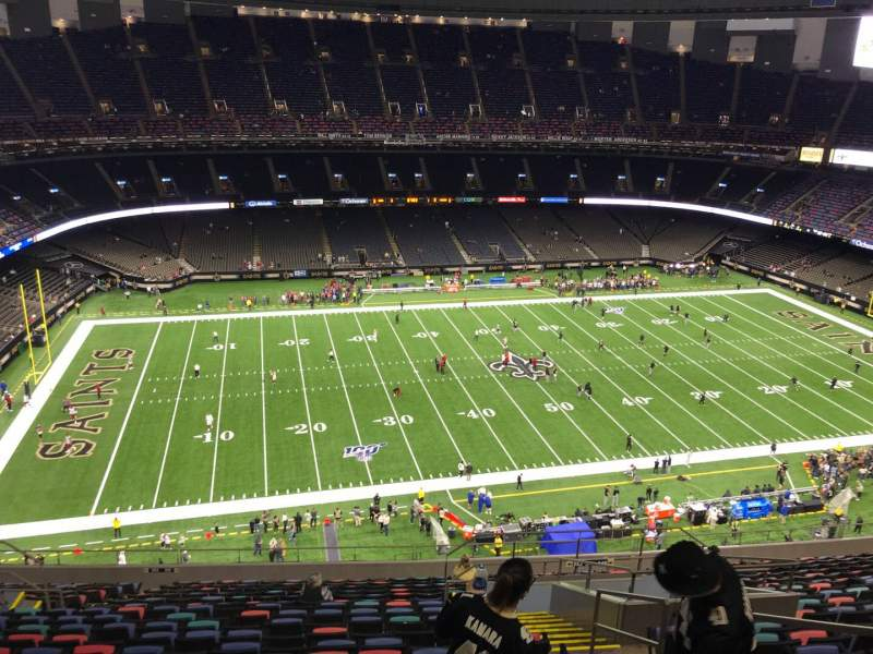 Seating view for Caesars Superdome Section 643 Row 20 Seat 4