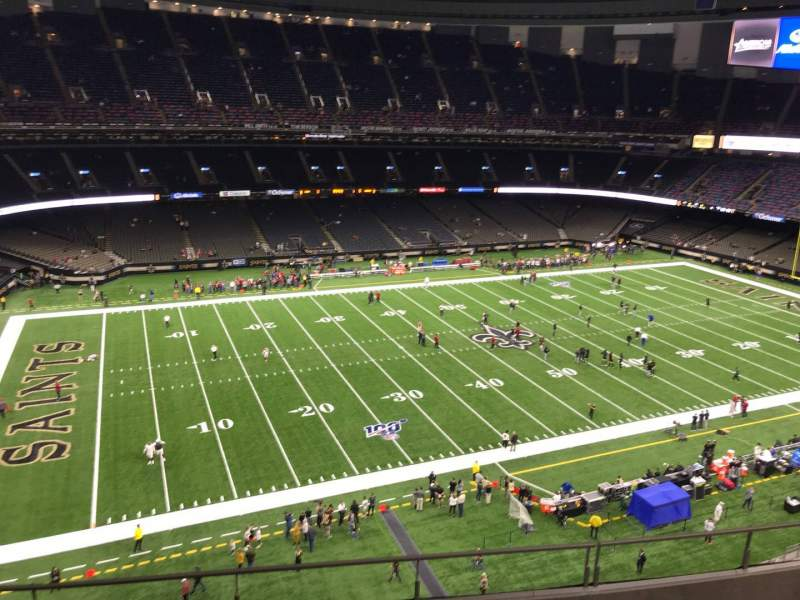 Seating view for Caesars Superdome Section 553 Row 6 Seat 15