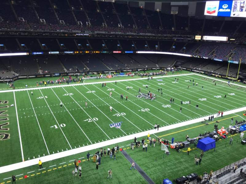 Seating view for Caesars Superdome Section 554 Row 2 Seat 4
