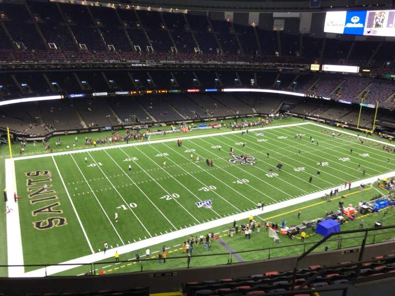Seating view for Caesars Superdome Section 645 Row 11 Seat 7