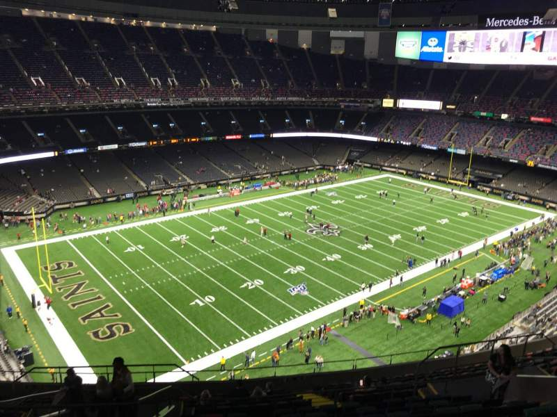 Seating view for Caesars Superdome Section 646 Row 18 Seat 14