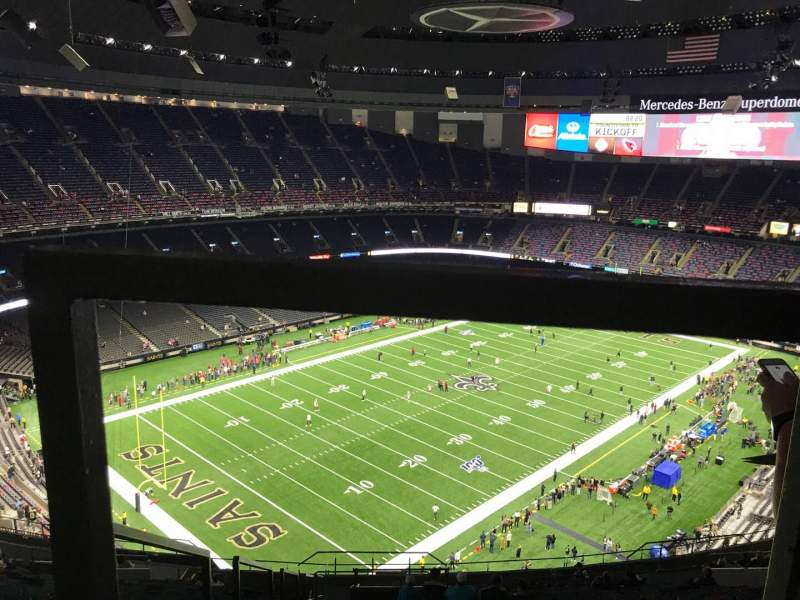Seating view for Caesars Superdome Section 647 Row 26 Seat 21