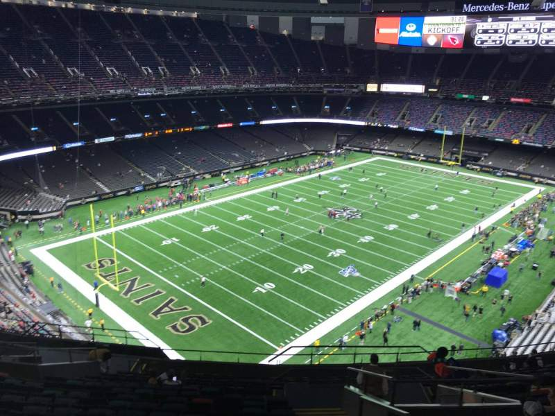 Seating view for Caesars Superdome Section 648 Row 18 Seat 2