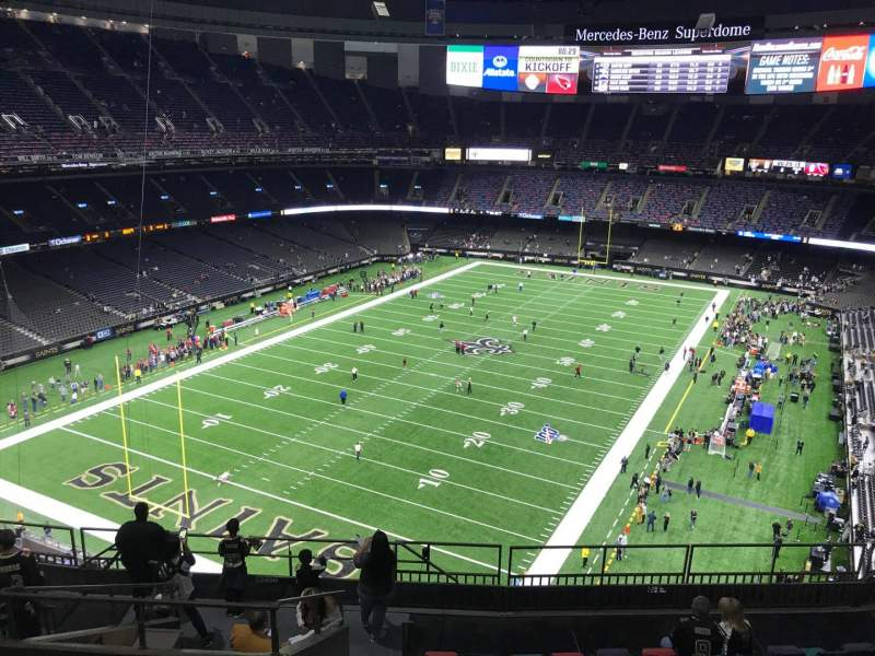 Seating view for Mercedes-Benz Superdome Section 649 Row 11 Seat 17