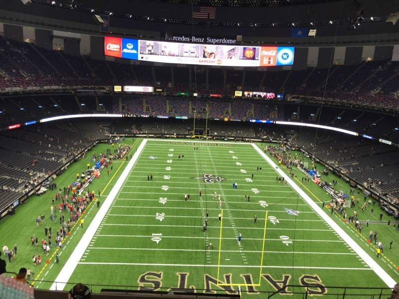 Seating view for Caesars Superdome Section 602 Row 12 Seat 7