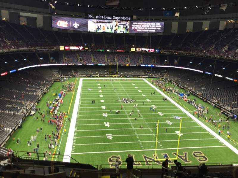 Seating view for Caesars Superdome Section 603 Row 16 Seat 8