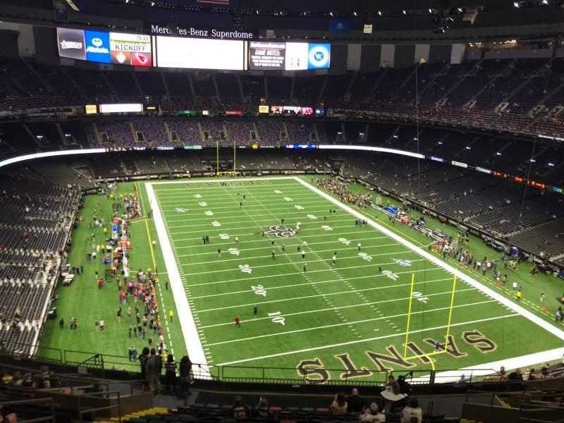 Seating view for Caesars Superdome Section 604 Row 19 Seat 14
